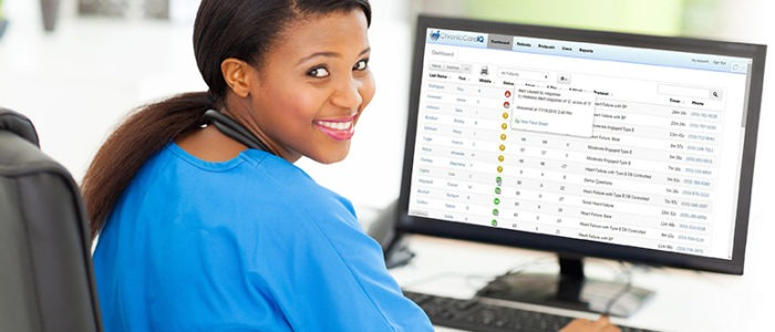 Nurse using ChronicCareIQ's Chronic Care Management Software