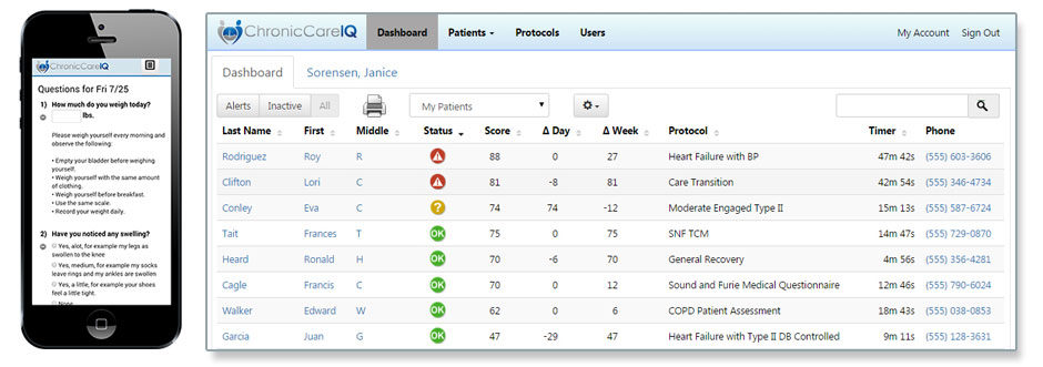 Our chronic care software keeps data for easy remote patient monitoring