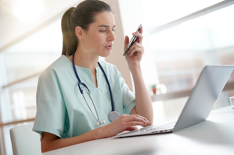 Remote Patient Management Nurse Monitoring Patients